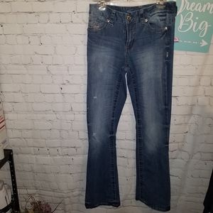 Seven Jean Bootcut Distressed Jeans